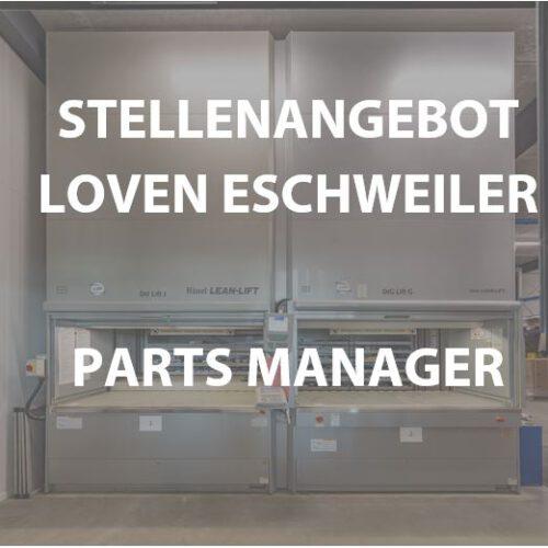 Stellenagebot parts manager