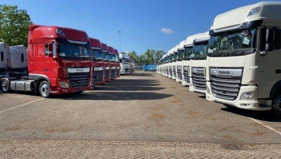 Het Used trucks DAF wagenpark van Loven Trucks